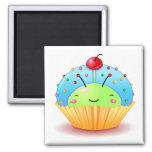 Blue Ladybug Cupcake Magnet