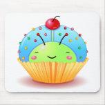 Blue Ladybug Cupcake Mousepad