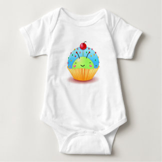 Blue Ladybug Cupcake T Shirt
