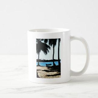 Blue Lagoon Basic White Mug