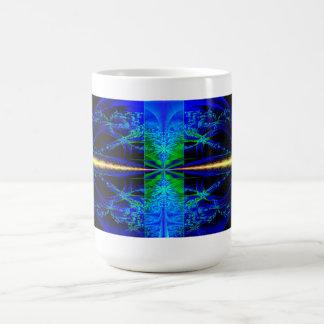 Blue Lagoon Blue Fractal Art Mug