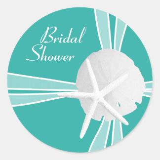 Blue Lagoon Bridal Shower Sticker