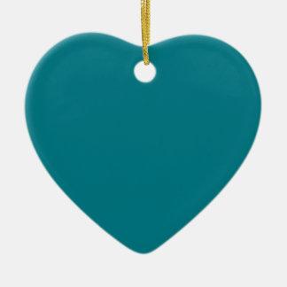 Blue Lagoon Heart Ornament