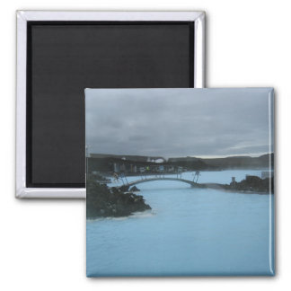 Blue Lagoon Iceland Square Magnet
