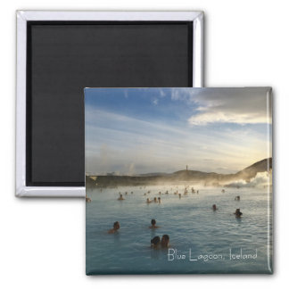 Blue Lagoon Iceland Square Magnet