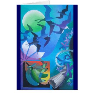 """""""BLUE LAGOON III"""" NOTE CARD"""