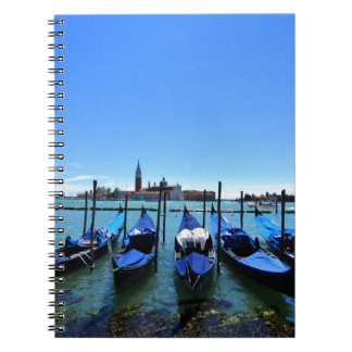 Blue lagoon in Venice, Italy Spiral Notebook