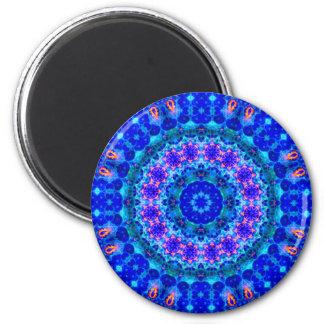 Blue Lagoon of Liquid Shafts of Light 6 Cm Round Magnet
