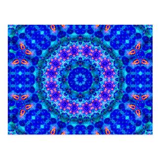 Blue Lagoon of Liquid Shafts of Light Postcard