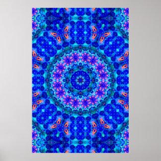 Blue Lagoon of Liquid Shafts of Light Print