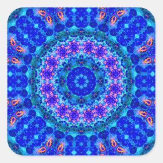 Blue Lagoon of Liquid Shafts of Light Square Sticker