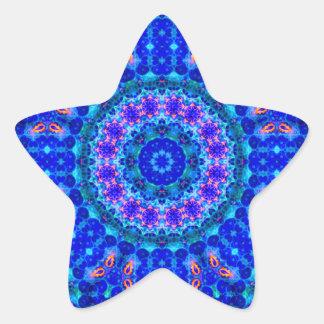 Blue Lagoon of Liquid Shafts of Light Star Sticker