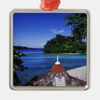 Blue Lagoon, Port Antonio, Jamaica Silver-Colored Square Decoration