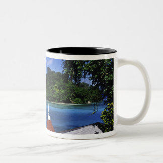 Blue Lagoon, Port Antonio, Jamaica Two-Tone Coffee Mug