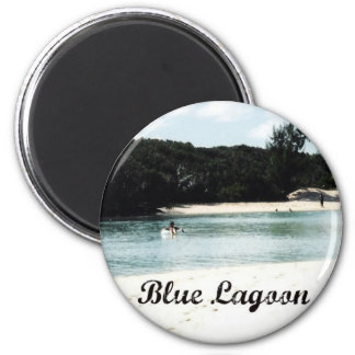 Blue Lagoon Refrigerator Magnets