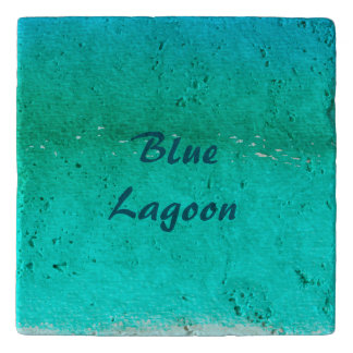 Blue Lagoon Travertine Stone Trivet