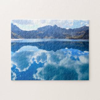 Blue lake clouds  landscape jigsaw puzzle