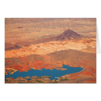 Blue Lake, Red Desert by Cynthia Wenslow Card