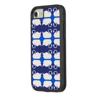 Blue Lake White Swans Reflections Crochet Print on Case-Mate Tough Extreme iPhone 8/7 Case