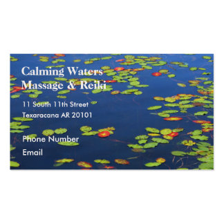 Blue Lake with lily pads Business Card