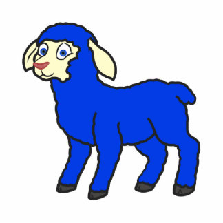 Blue Lamb Photo Sculpture Magnet
