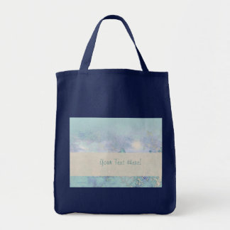Blue Landscape Harmony Grocery Tote Bag