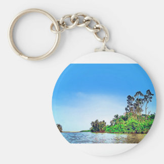 Blue Landscape Keychains