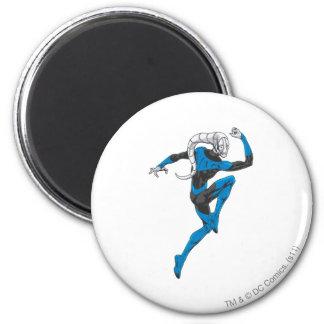 Blue Lantern 1 6 Cm Round Magnet