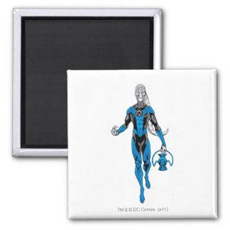 Blue Lantern 4 Square Magnet