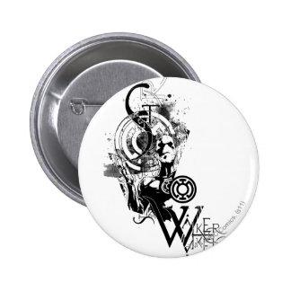 Blue Lantern Graphic 2 6 Cm Round Badge