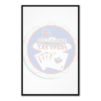 Blue Las Vegas Welcome Sign Poker Chip Stationery
