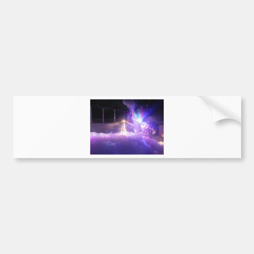 Blue lasers lights foam bumper stickers