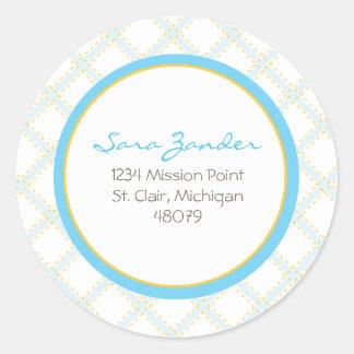 Blue Lattice Address Label/Favor Sticker