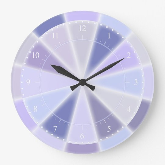 Blue Lavender and Purple Elegant Glow Wall Clocks