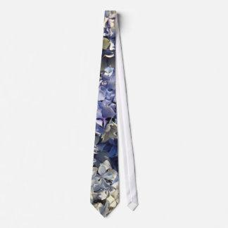 Blue Lavender Hydrangea Petals Tie