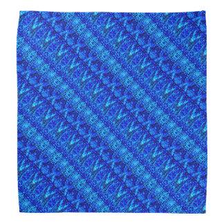 Blue Layered Pattern Bandana
