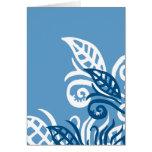 blue leafe design god love you greeting card