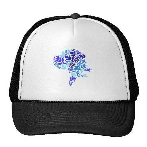 Blue leafs Great Dane Trucker Hats