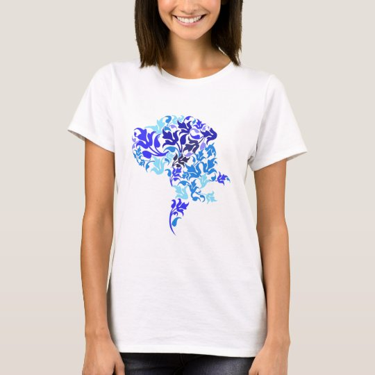 Blue leafs Great Dane T-Shirt
