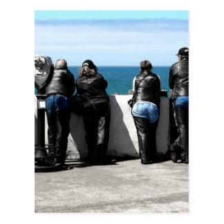 Blue Leather Postcard