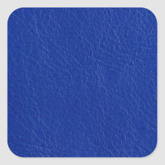 Blue leather square sticker