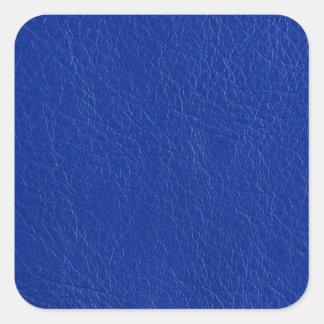 Blue leather square sticker