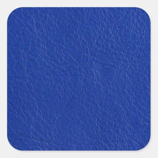 Blue leather sticker