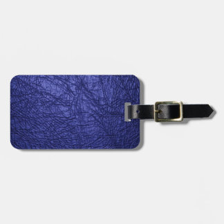 blue leather texture luggage tag