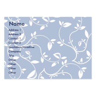 Blue Leaves - Chubby Pack Of Chubby Business Cards