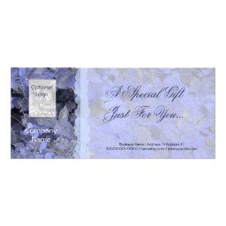 Blue Leaves Gift Certificate Card Full Colour Rack Card
