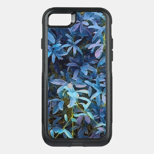 Blue Leaves Impression OtterBox Commuter iPhone 7 Case
