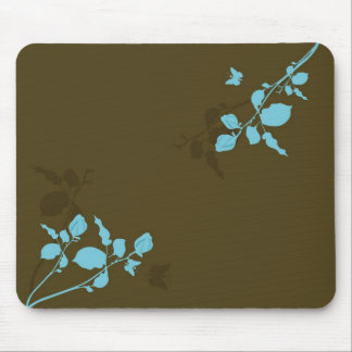 Blue leaves Mousepad