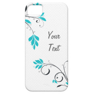 Blue Leaves - Personalize iPhone 5 Cases