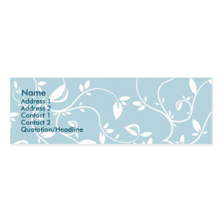 Blue Leaves - Skinny Pack Of Skinny Business Cards